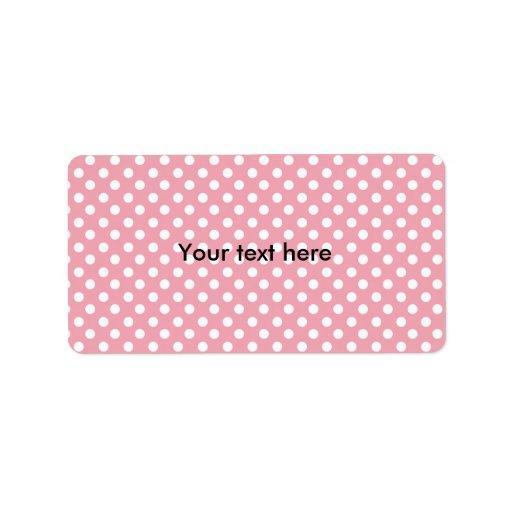 pink polkadots address label