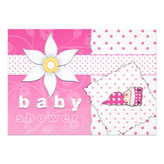 Pink Polkadots and Cuteness Baby Shower Invitation