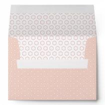 Pink PolkaDots Decorative Geometric Pattern Lined Envelope