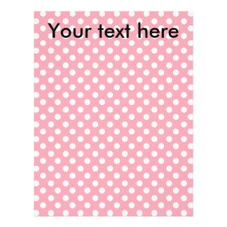 """pink polkadots 8.5"""" x 11"""" flyer"""