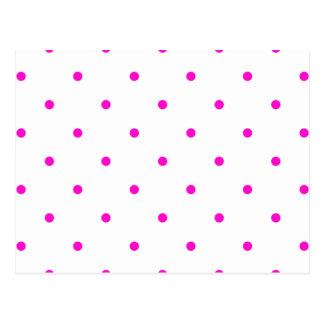 Pink Polkadots Small Postcard