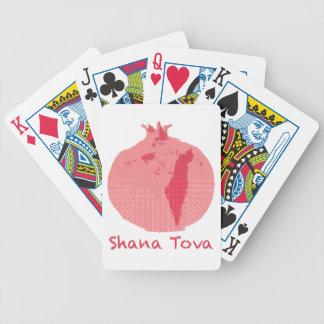 Pink Pomegranate Shana Tova Bicycle Playing Cards