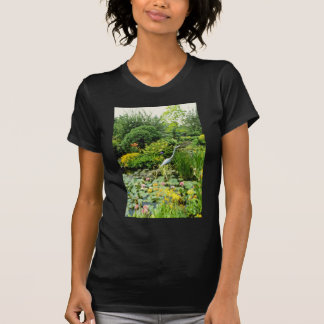 Pink Pond With Hosta, Primula florindae, Lilly, Mi Shirts
