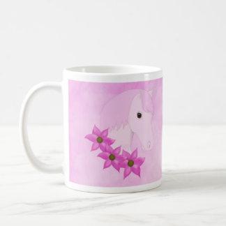 Pink Pony & Flowers Mug