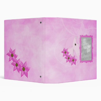 "Pink Pony & Flowers Photo Album 1.5"" 3 Ring Binders"