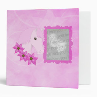 Pink Pony & Flowers Photo Album Vinyl Binder