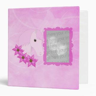 Pink Pony & Flowers Photo Album Binder