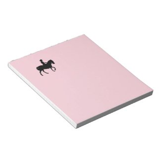 Pink Pony with Little Girl Memo Note Pad