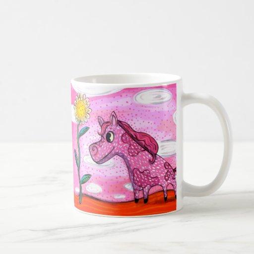 Pink Pony Yellow Pony Happy Mug
