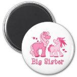 Pink Ponys Big Sister Refrigerator Magnet