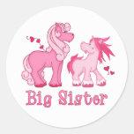 Pink Ponys Big Sister Sticker