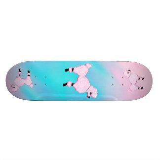 Pink Poodle Art Skateboard