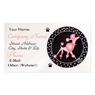 Pink Poodle Business Profile Card Double-Sided Standard Business Cards (Pack Of 100)