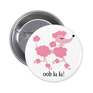 pink poodle button