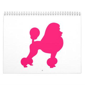 Pink Poodle Calendar