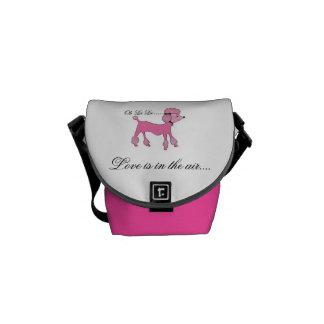 Pink Poodle Day Pack Messenger Bag