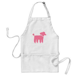 Pink Poodle Dog Graphic Adult Apron