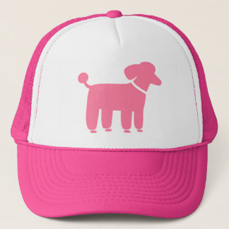 Pink Poodle Dog Graphic Trucker Hat