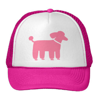 Pink Poodle Dog Graphic Trucker Hat