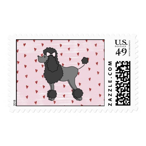 Pink Poodle Fifties Postage