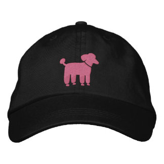 Pink Poodle Graphic Embroidered Baseball Hat