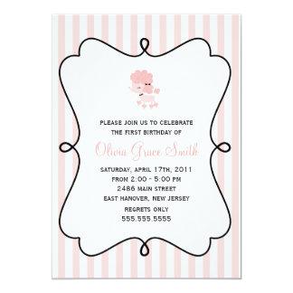 Pink Poodle in Paris Birthday Card