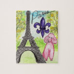 Pink Poodle in Paris Jigsaw Puzzles