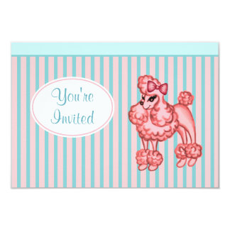 Pink Poodle Invitations