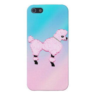 Pink Poodle Jeweled Collar iPhone 5 Case