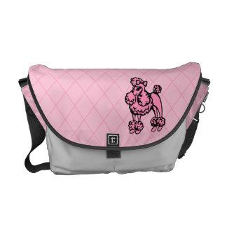 Pink Poodle Messenger Bag