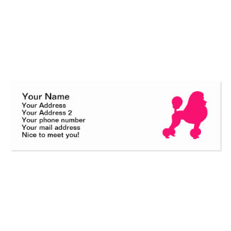 Pink Poodle Mini Business Card