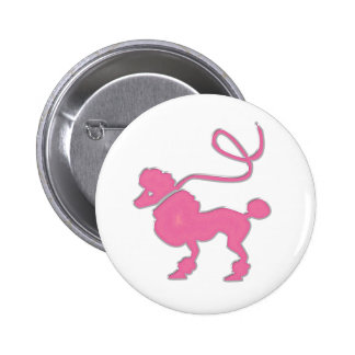 Pink Poodle Pinback Button