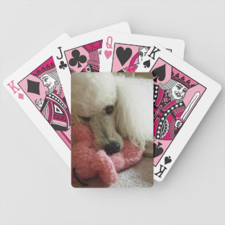 Pink Poodle Playing Cards