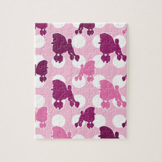 Pink Poodle Polka Dot Puzzle