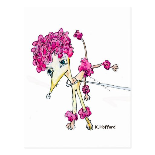 Pink Poodle Post Cards