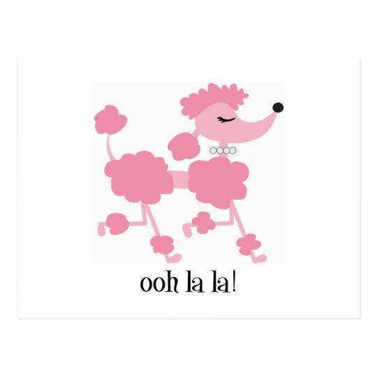 pink poodle postcard