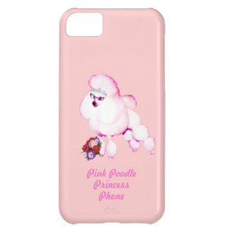 Pink Poodle Princess iPhone Case