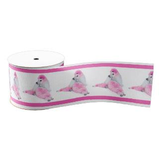 Pink Poodle Ribbon Grosgrain Ribbon