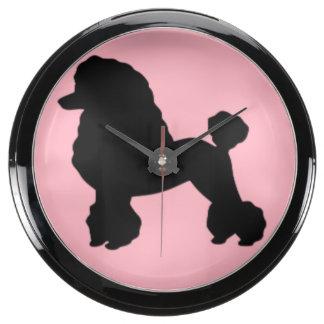 Pink Poodle Skirt Aqua Clock