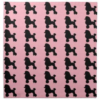 Pink Poodle Skirt Inspired Cloth Napkins