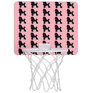 Pink Poodle Skirt Inspired Mini Basketball Hoop