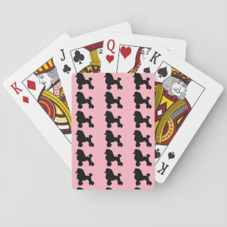 Pink Poodle Skirt Inspired Playing Cards