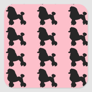 Pink Poodle Skirt Inspired Stickers