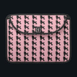 """Pink Poodle Skirt MacBook Pro Sleeve<br><div class=""""desc"""">Break out your bobby socks and saddle shoes and start dancing! This Pink Poodle Skirt Inspired MacBook Pro Sleeve looks like a classic 1950s poodle skirt. The design features the repeating image of a black silhouette of a poodle on a pink background. It&#39;s beginning to look a lot like the...</div>"""