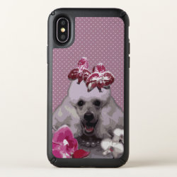 Speck Presidio iPhone X Case with Poodle Phone Cases design