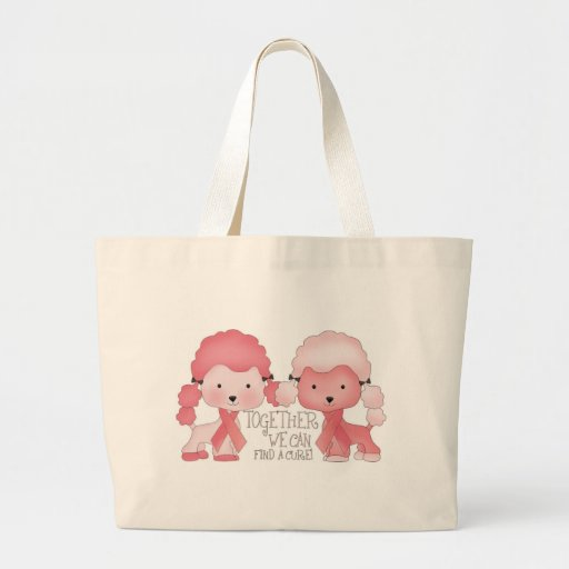 Pink  Poodle-Together we can find a cure Canvas Bag