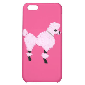 Pink Poodle with Jeweled Collar iPhone 5 Case