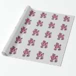 Pink Poodle Wrapping Paper