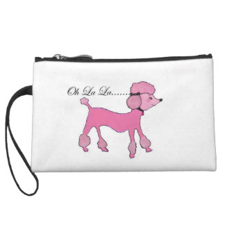 Pink Poodle Wristlet Wallet