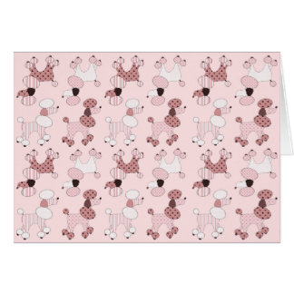Pink Poodles On Parade Card